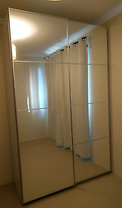 IKEA pax wardrobe with glass sliding doors North Sydney North Sydney Area Preview