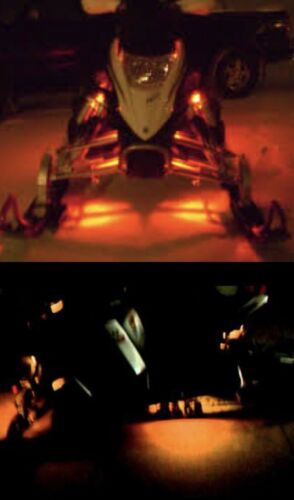 LED Snowmobile Underglow 12v Custom LED Neon Accent Lighting Amber 4 Pcs 1' Atv