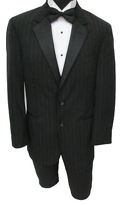 Men's Black Ralph Lauren Striped Tuxedo Jacket with Pants Halloween Costume 38R