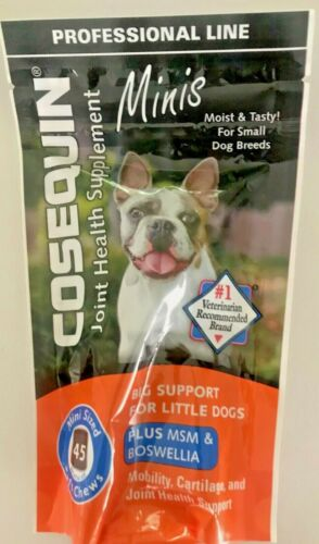 Cosequin Joint Health Suplement Minis Chews (45 Count) PLUS MSM & BOSWELLIA