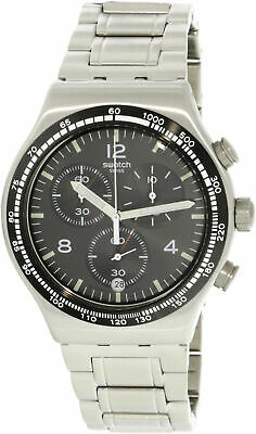Swatch Men's Night Flight YVS444G Silver Stainless-Steel Swiss Quartz Fashion...