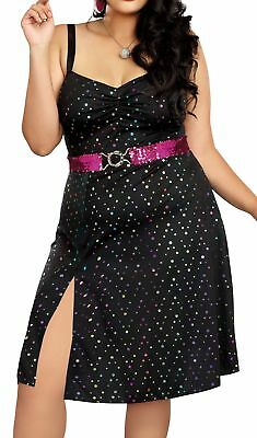 Dreamgirl Women`s Disco Diva Black - Black Disco Diva Kostüm