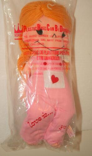 Rare Love Is Girl Plush Toy Doll 1983 NOS New Tags MIB KAMAR International