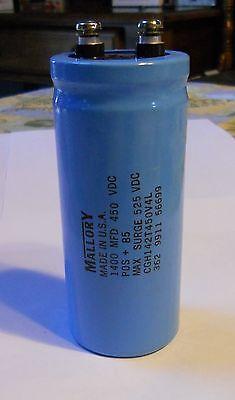 Mallory Capacitor 1400uf 450vdc Screw Alum