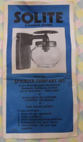 Vintage Propane Gas Lamp New in original box Solite LP light fixture RV trailer