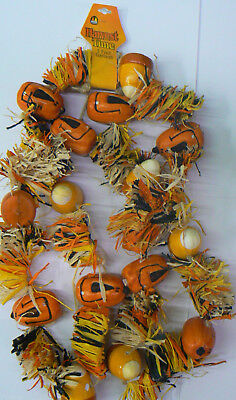 Halloween / Harvest 7' Pumpkin and Candy Corn Garland](Harvest Halloween)