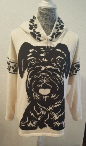 Custom Knit Giant Black Schnauzer Dog Sweater for people