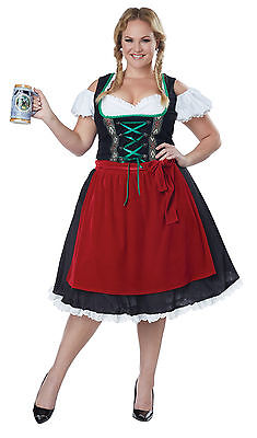 Oktoberfest Fraulein Renaissance Plus Size Adult Costume  (Oktober Fest Costume)
