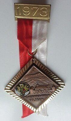 Wander-Medaille von 1973, 1. Int.Goldgruben-Marsch Goldrain