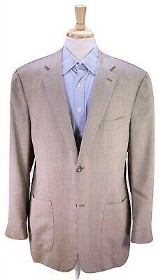 ISAIA Napoli Recent Light Blue 93% Cashmere 7% Silk Patch Pocket Blazer US 48R