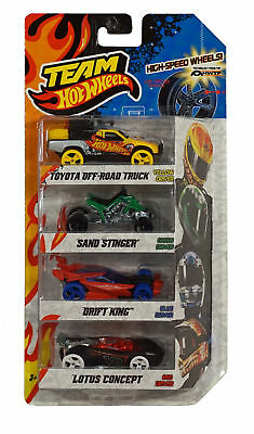 Team Hot Wheels Vehicle 4-Pack: Sand Stinger + Drift King +T