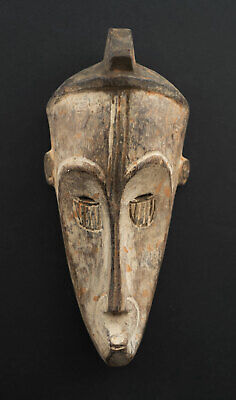 Masquette Votive Fang Ngil Mask Miniature Gabon 17cm Art African 16672