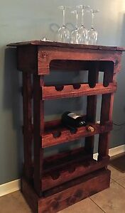 Beautiful Handmade Wooden Wine Rack Bar