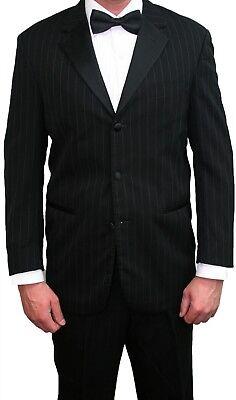 Black Pinstriped Ralph Lauren Tuxedo Coat Pants Shirt Halloween Gangster Costume