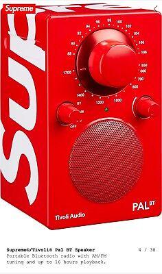 RARE SUPREME/TIVOLI  PAL BLUETOOTH SPEAKER/RADIO SS/18 UK