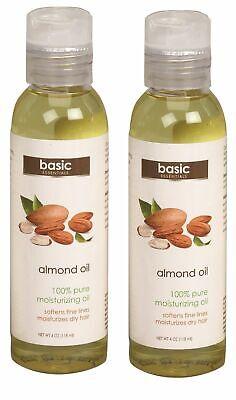 Almond Body Oil 100% Pure Moisturizing Softens Moisturizes Dry Skin 4 Oz  1/2