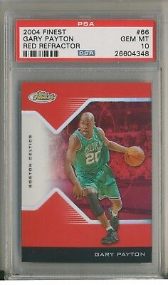 competitive price 75d0a 2250c GARY PAYTON 2004-05 Finest Red Refractor  149  66 PSA 10 HOF Only 1 Graded