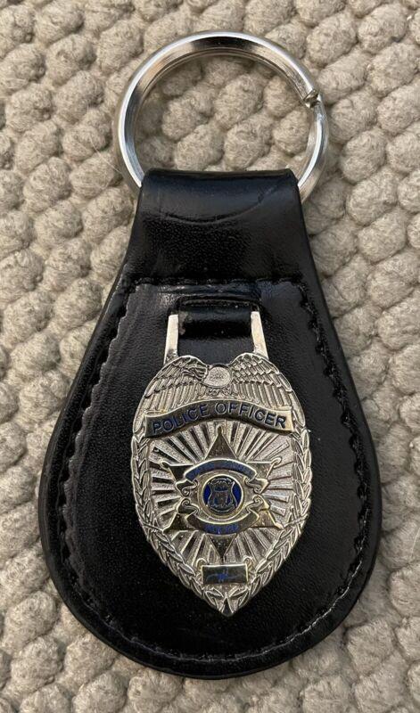 "Police Officer Wayne County Michigan Key Fob 3 1/4"""