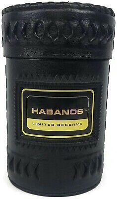 Cigar Box Humidor Wood Leather Habanos Puros Limited Reserve Leather Cigar Box