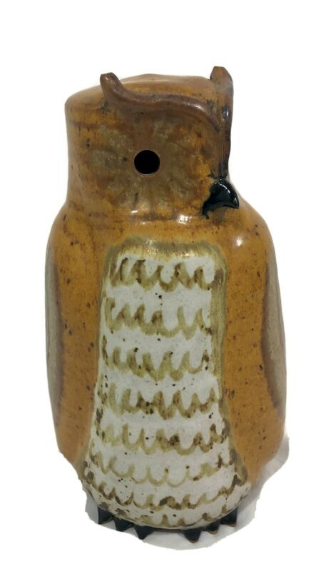 RUSH TECO Art Pottery Owl 12 Inches Tall
