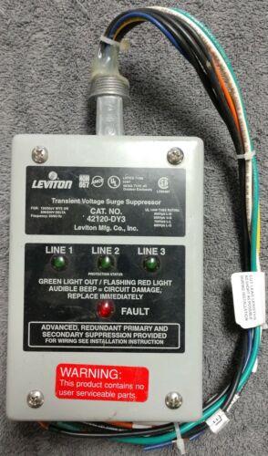 LEVITON 42120-DY3 TRANSIENT VOLTAGE SURGE SUPPRESSOR 120/208V