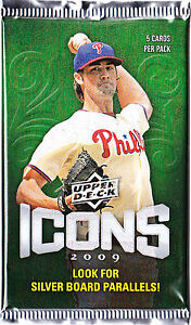 3-Pack-Lot-2009-Upper-Deck-ICONS-BASEBALL-Cards-ROOKIES-STARS-Free-SHIPPING