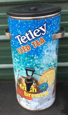 Tetley 3 Gallon Iced Tea Dispenser Beverage Urn Stainless Steel Bunn Curtis
