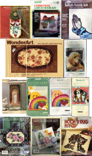 CHOICE: Vintage LATCH HOOK Kits Malina • WonderArt • Aronelle • National Yarn Cr