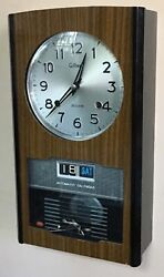 Vintage Gilbert Japan Automatic Mechanical T&S Calendar Wall Clock Black Lacquer