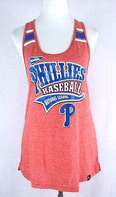Philadelphia Phillies Baseball MLB Women's XL Tank Top Red White Cotton Soft New ()