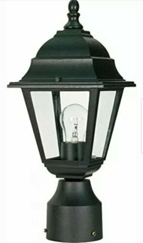 Nuvo Lighting 60 548 One Light Lantern Post Mount Black Outd