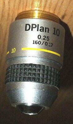 Olympus Microscope Objective Lens Dplan Dplan 10x 0.25 1600.17