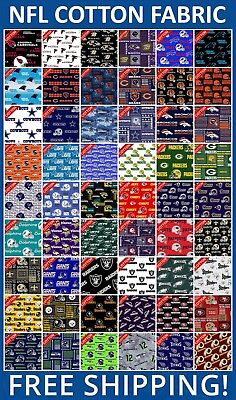 Nfl Team Fabric - NFL Sport All Teams Collection Cotton Fabric - 60