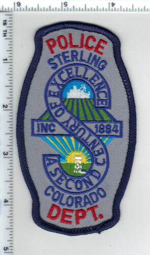 Sterling Police (Colorado) Shoulder Patch - new from the 1990