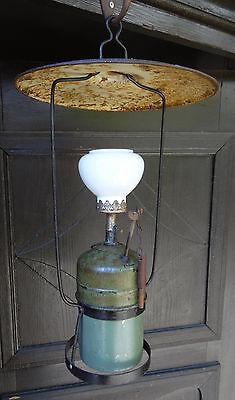 Antike seltene Laterne Carbit Lampe Benzin Handlampe originaler kl. Glasschirm