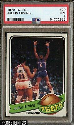 1979 Topps Basketball #20 Julius Erving Philadelphia 76ers HOF PSA 7 NM