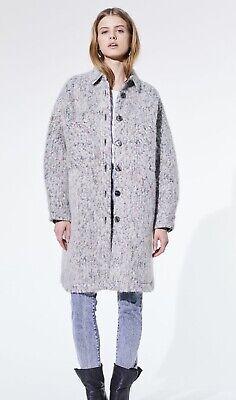 IRO Paris oversized grey long shirt coat jacket £408 new size 36