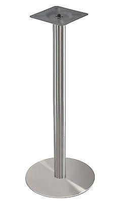 Hochwertiges Edelstahl Tischgestell 110cm Messetisch Bistrotisch Stehtisch