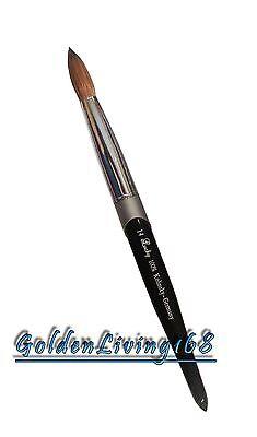Professional Black Kolinsky Acrylic Nail Brush Round size 8 10 12 14 16 18 20 on Rummage