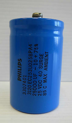 Philips Capacitor Model 3120ec253u025bpa4 25vdc 40 Surge Gas Pump Partwrs