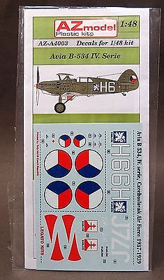 1/48 AZ Model decals A4003 AVIA B-534 IV. SERIES Czech Air Force 1937-39 mint