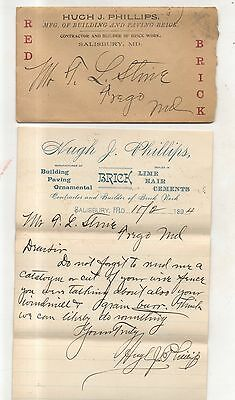 1894 Hugh J Phillips Building Contractor,
