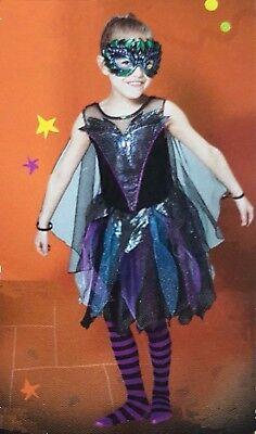 Halloween Spooktacular Swan Costume Dress Wings Fairy Mask Cute Pretty H16 ()