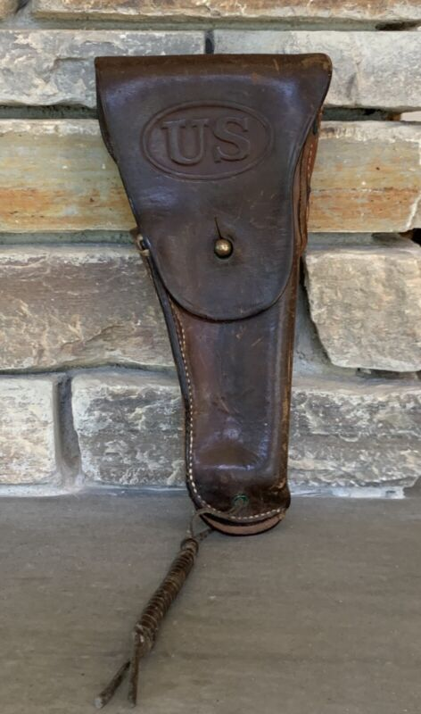 Authentic Leather US Army Early 20th Century Gun Holster