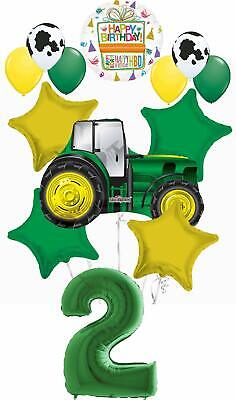 Farm 2nd Birthday Party Supplies (Farm Tractor 2nd Birthday Party Supplies 13 pc Balloon Bouquet)