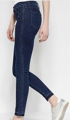 J Brand Braided Catonite Super Skinny Mid Rise Jeans Size 27