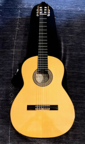 VV: RARE 2010 Antonio Bernal Flamenco Negra guitar SPAIN signed, nice case, DEAL