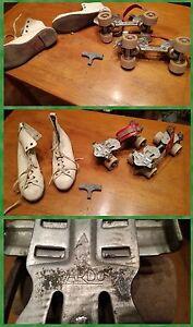 Pattini-a-rotelle-anni-50-con-scarpe-in-DISCRETE-condizioni-data-l-039-eta