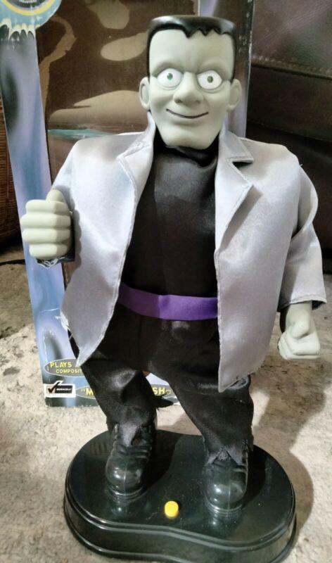 "Vintage Gemmy Animated Frankenstein Hip Swinging Plays ""Monster Mash"" Halloween"