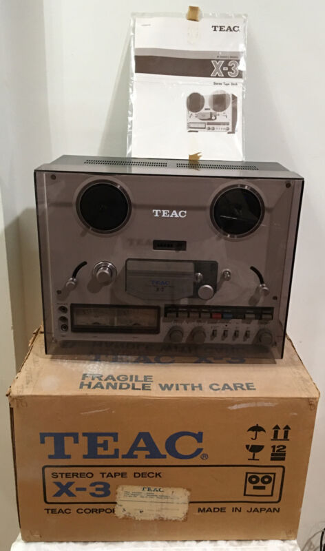 Teac X-3 Stereo Reel to Reel Tape Recorder Player With Box